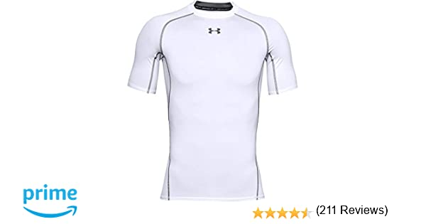 Under Armour UA Heatgear Short Sleeve Camiseta, Hombre, Blanco ...