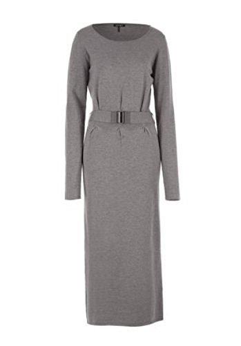 Langes Strickkleid Kleid von Apart - Farbe Grau Melange Gr. 34