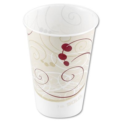 Wax Coated Paper Cups - Solo R7n-j8000 Symphony Design Wax Coated Treated Paper Cold Cup 7 Oz Size 100/pack