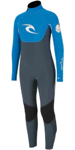 Rip Curl JUNIOR E-bomb 3/2mm GBS Steamer In Fanning Blue W1196J Age / Size - 10 Years