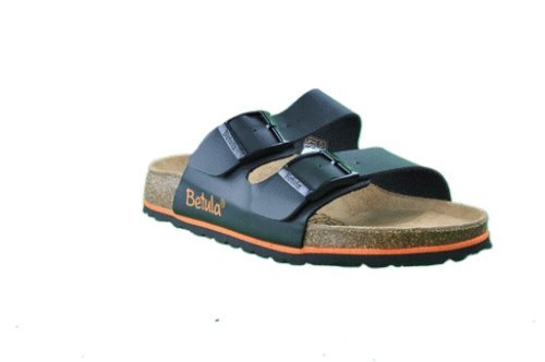 Betula slippers Boogie in size 37.0 N EU made of Birko-Flor in Black with a narrow insole
