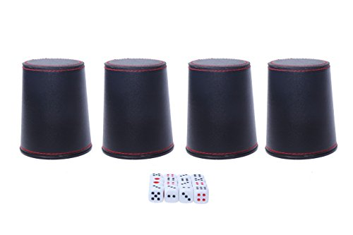 Chinese Drinking Game Liars 4 Mini Dice Cups and 20 Mini Dice Set by Juvale