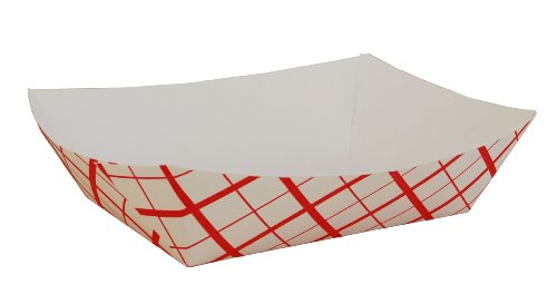 Southern Champion Tray 0429 #500 Southland Red Check Paperboard Food Tray / Boat / Bowl, 5 lb Capacity (Case of 500)