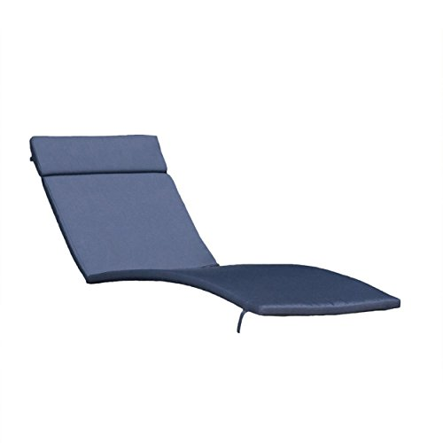 Great Deal Furniture Lakeport Patio ~Outdoor Chaise Lounge Chair Cushions (Only)(Set of 2)(Navy) by Great Deal Furniture