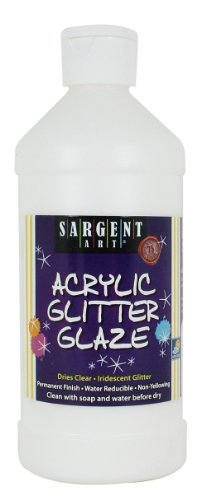 Sargent Art 22-8811 16-Ounce Acrylic Glitter (Art Glaze)