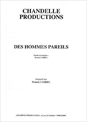 DES PAREILS CABREL HOMMES GRATUITEMENT TÉLÉCHARGER