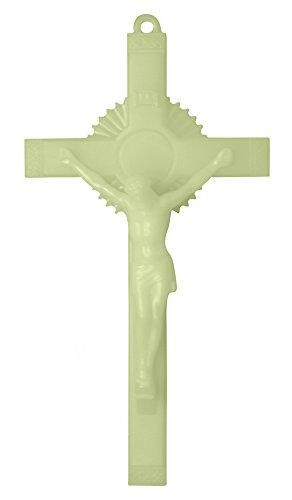 (Toccare Luminous Catholic Wall Crucifix - Glows in the Dark! (6