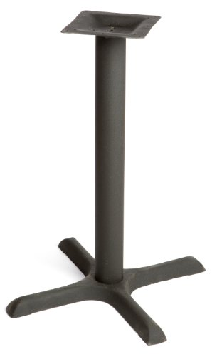 Oak Street Manufacturing B22-STD Black Powder Coated Cast Iron Cross Base with 3