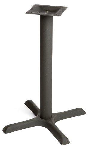 Oak Street Manufacturing B22-STD Black Powder Coated Cast Iron Cross Base with 3
