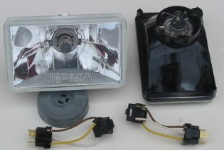 Hella 165mm Free Form DOT SAE H4 Replacement Headlamp Kit with Standard 60/55W H4 Bulbs -
