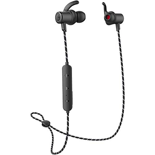 Bluetooth 5.0 Headphones, Super Sound Quality, 9 Hours Play Time, Magnetic Wireless Earbuds Sport in-Ear IPX 6 Sweatproof Earphones for iPhone and Android Cellphones for Business/Office/Driving