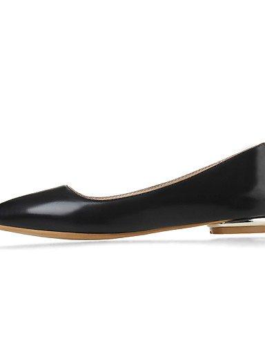 oficina uk10 mujer zapatos piel de y tacón black carrera Pisos al casual PDX cn46 rojo sintética de verde bajo rosa us12 negro libre punta aire Toe eu44 w6tqx54
