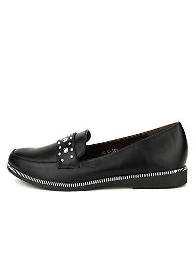 Chaussures Simili Derbies Cendriyon Cuir Femme Noires Noir Princesia FqwXZw