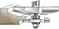 MLCS Raised Panel Router Bit with Undercutter: 15 Deg. Straight Profile by MLCS