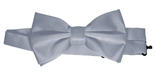 Satin Bow-Tie in Silver