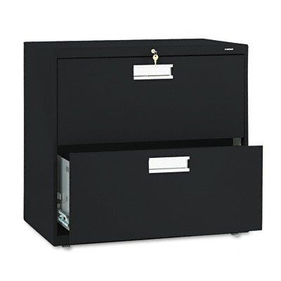 Hon Company 600 Series Two-Drawer Lateral File, 30W X19-1/4D, Black Hon672Lp