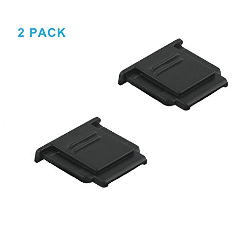 LXH 2 Pack Hot Shoe Cover Cap for Sony A6500 A6300 A6000 a9 a77II a7riii a7S a3500 a3000 a7 a7R NEX-6 a58 a99 RX100II RX1R RX10III RX10II RX1 Replaces Sony FA-SHC1M Shoe Cover (Black)