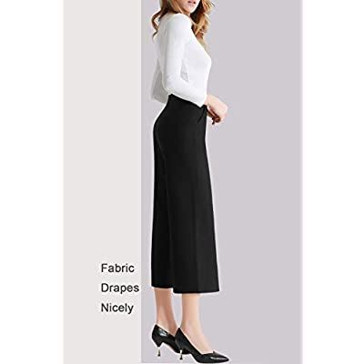 Tsful Women's Casual Loose Wide Leg Pants Pull On Dress Pant at Women's Clothing store