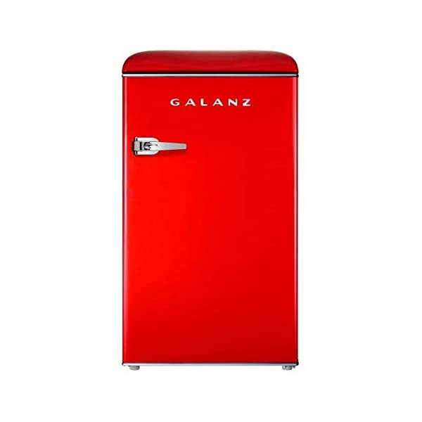 Galanz – Retro Look Refrigerator, Modern Energy Star Effciency, 2-3 Adjustable Shelves, Direct Cooling, Thermostat, Interior Light, Multiple Freezer Storage Compartments