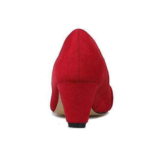 APL10690 BalaMasa Femme EU Sandales Red Compensées 36 Rouge 5 wwqZdHnr