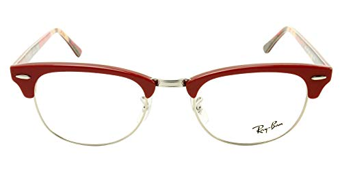 Ray-Ban Unisex RX5154 Clubmaster Eyeglasses Red On Texture Camuflage ()