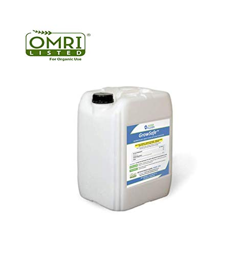GrowSafe Bio-Pesticide Organic All-Natural Miticide, Fungicide Insecticide. Better and Safer than Neem Oil for Plants,Non-Toxic,Control Spider Mites ,Powdery Mildew.Non-Phytotoxic,Concentrate(2.8Gal)