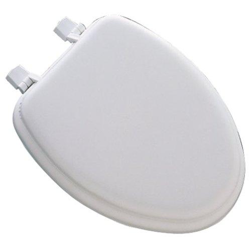 Mayfair 113EC000 White Elongated Deluxe Soft Toilet Seat ()