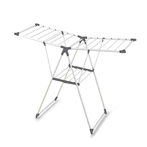 Winged Folding Clothes Airer Adjustable Dryer Stand Rack Ind