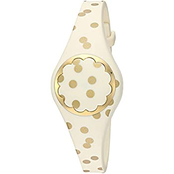 kate spade new york cream and gold dot scallop activity tracker