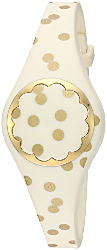 Kate Spade New York cream and gold dot scallop activity tracker by Kate Spade New York