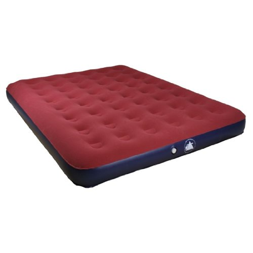 10T Velo King Maxi Double Air Bed Air Mattress Velour Surface Area Size 198X150X26 CM