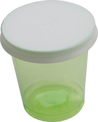80 Stück Medikamentenbecher + 80 Deckel Medizinbecher Schnapsbecher Farbe: grün