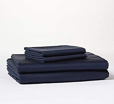 Bokser Home Sateen Bed Sheet Set — 100% Long Staple Cotton   Luxurious, Ultra-Soft, and Cozy Sateen Weave   Extra-Deep Pockets to Fit Any Mattress   Certified Chemical-Free