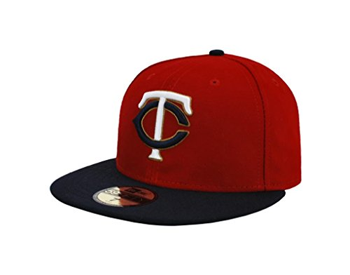 "NEW ERA 59Fifty Hat Minesota Twins ""TC"" 2016 Red/Navy Blue Fitted Cap – DiZiSports Store"