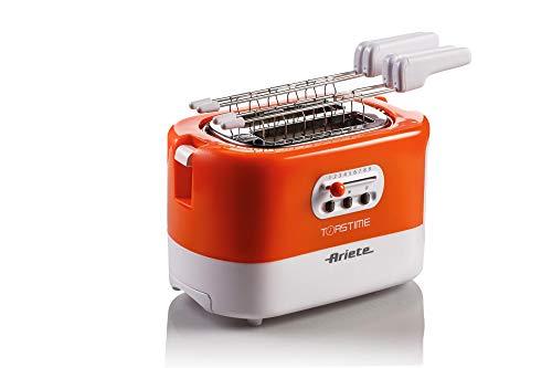 Ariete 159 Toastime, Tostapane 2 fette con pinze, Cassetto raccogli briciole, Funzione scongelamento e riscaldamento, 9… 1