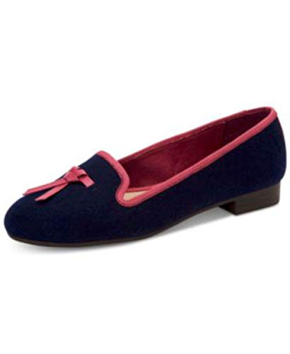 Charter Club Womens Femmiie Fabric Round Toe Loafers, Navy, Size 7.5 from Charter Club