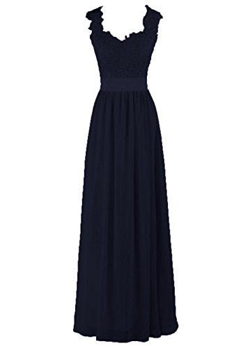 Straps Floor Through Navy Women's Bridesmaid DYS Dress Back Lace See Length FPwqSx6