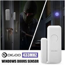 DIGOO DG-HOSA 433MHz Burglar Alarm Sensor, Wireless Windows Doors Sensor,  Work with Any 433MHz Home Security Alarm System for Home and Business