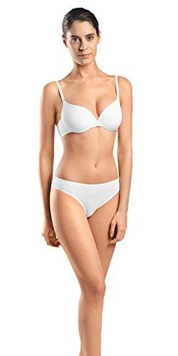 HANRO Women's Cotton Sensation T-Shirt Bra 71355, White, 38 B ()