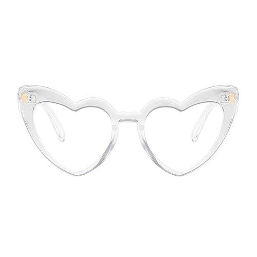 Lunettes Élégant lunettes forme Polarisé de Classique UV Style Love de soleil En Glasses de Transparent Deylaying Oeil protectrices chat Rétro Heart Lunettes Protection 4fcWfRaS
