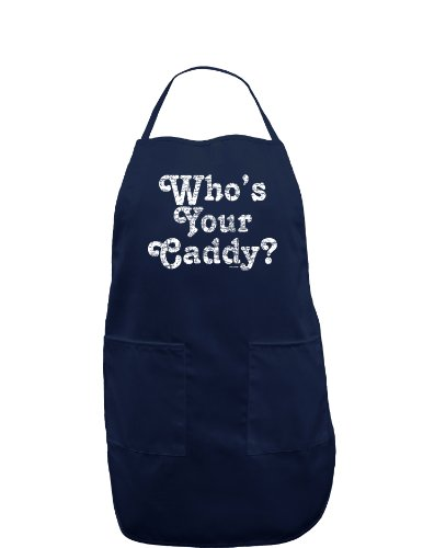 Who's Your Caddy Dark Adult Apron - Navy - One-Size