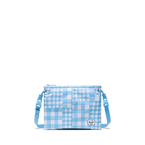 Herschel Alder Cross Body Bag, Gingham Alaskan Blue, One Size