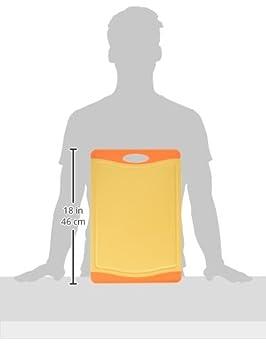 Green Microban//Kleon Set of 15201L 15201M and 15201S Orange// Yellow Uniware Microban Antimicrobial Cutting Board Set of 3