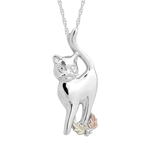 Black Hills Gold on Silver Cat Pendant