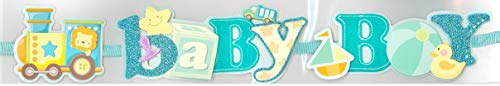 Baby Boy Train 3D Title Sticker - 12 inches Long