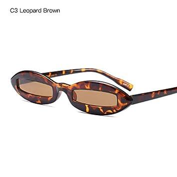 SMDAMDA Gafas de Sol ovales estrechas Extremadamente ...