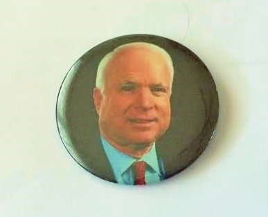 McCain 2008 Political Pin Back Button (3