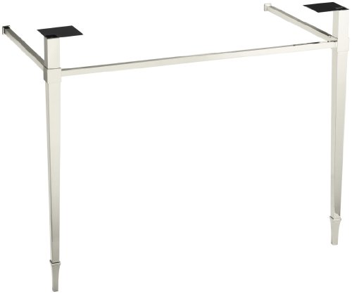 Kohler K-6861-SN Kathryn Square Tapered Metal Legs, Vibrant Polished Nickel by Kohler