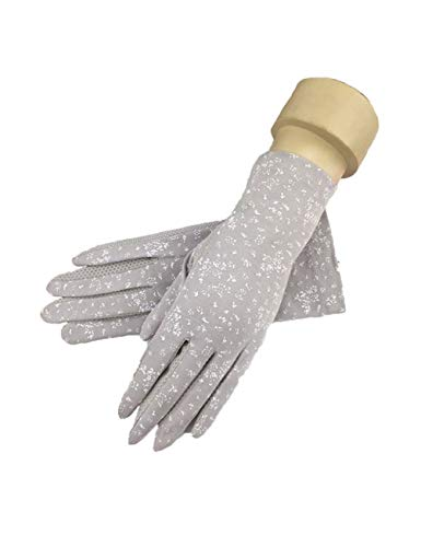Classic Racquetball Glove - WYSTAO UV Protection Gloves Driving Gloves Sunscreen Female Explosion Models Spring and Summer Riding Visor Sexy Romantic Personality Fashion Short Classic Gray Sunscreen Gloves (Color : 1 Pair)