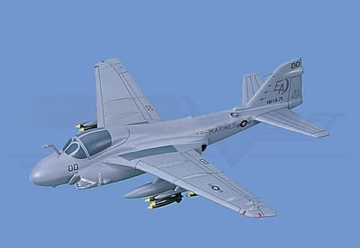 A-6E Intruder - Marines, Loaded Aircraft Model Mahogany Display Model / Toy. Scale: 1/48